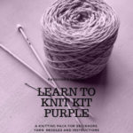 Purchase a purple learn to knit kit
